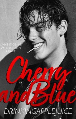 Cherry & Blue by drinkingapplejuice