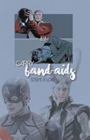 I carry band-aids: steve x loki by BebLovesLoki