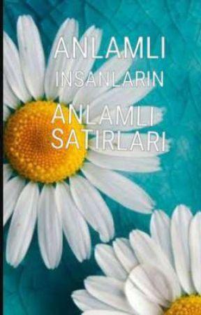ANLAMLI INSANLARIN  ANLAMLI SATIRLARI  by MelikeTemiz573