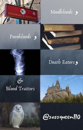 Mudbloods, Purebloods, Death Eaters, & Blood Traitors (ON HIATUS) by peterpan_romantic