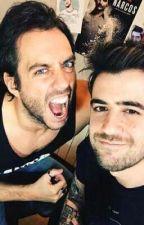 Auron y Jordi : ¿Como paso? by katanayes