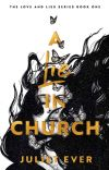 A lie in church.  TO BE PUBLISHED  cover
