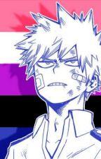 realization ; genderfluid!bakugou by SyIveon