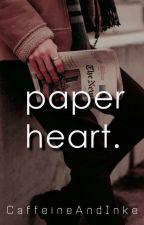 paper heart.  by CaffeineAndInk