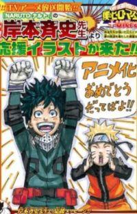 My hero academia and Naruto crossover cover