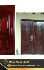 0812-9219-2709 [ CALL / WA ] Jual Pintu Rumah 2 Pintu Besar Kecil by pinturumahputihmini