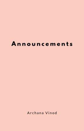 Announcements by ArrhVee