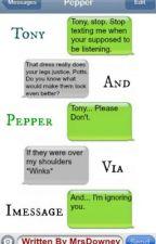 Tony And Pepper Via imessage by Arthurmorti