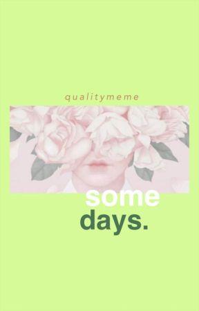 some days by qualitymeme