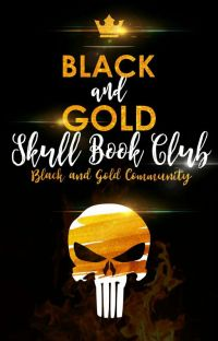 Black And Gold Skull Bookclub cover