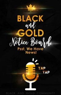 Black And Gold Community Notice Board cover