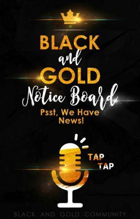Black And Gold Community Notice Board by BGCommunity