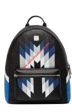 MCM Medium Stark Chevron Diamond Backpack In Black by cheapmoschino
