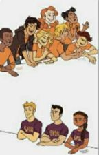 Percy Jackson and friends react to their own fan art by Evren_Writes
