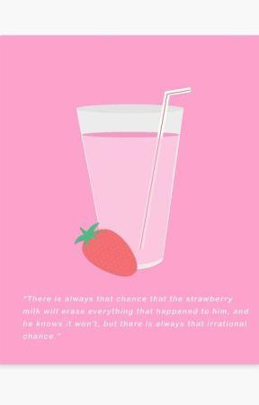 Strawberry Milk. by larriekissy