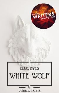 blue eyes white wolf   taekook cover