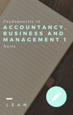 Fundamentals of Accountancy, Business and Management 1 Notes  by lllean