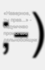 «Наверное, ты прав...» - задумчиво промолвил дальнобойщик - by SergeyAvdeev888