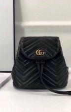 GG Marmont matelassé backpack-Black by divyagtr