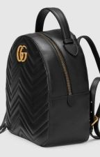 Gucci GG Marmont Quilted Leather Backpack-Black by divyagtr