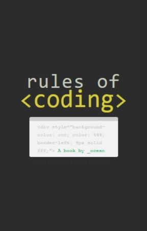 rules of coding by _ocean