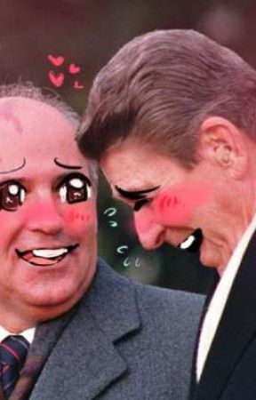 Ronnie get rawed before it's too late (Ronald Reagan x Mikhail Gorbachev) by paracosmoi