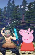 peppa vs inosuke [battle of the pigs] by mikvsas