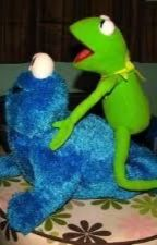 Kermit x Cookie Monster  by OwO_OwO_OW0