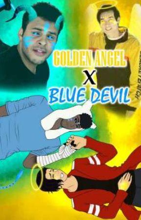 Golden angel X blue devil  by AlexaLoveVanoss