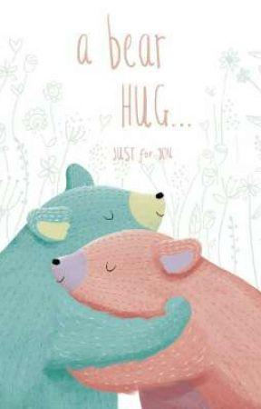 a bear hug by lightcrescent_