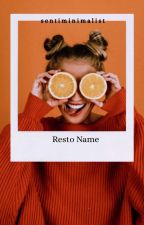 Resto Name [O P E N]  by sentiminimalist