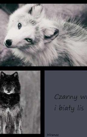 Czarny wilk i biały lis by Hiranoz