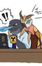 Godzilla and Mothra BOOK 2.0 THE king and Queen  by MosuGoji