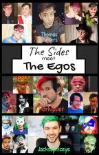 The Sides Meet the Egos [Sander Sides, Jacksepticeye, Markiplier] by LittleWanderingToon2
