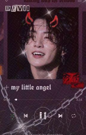 """my little angel""   taekook demon+angel au by yoonieepie"