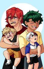 Babysitters Kiri and Deku by double_entendre