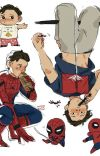 Spiderson x The Avengers cover