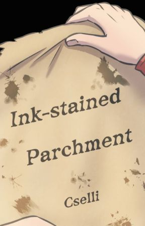 Tintafoltos pergamen // Ink-stained parchment by Cselli
