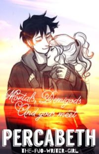 Mortals, Demigods, and gods meeting percabeth [completed] cover