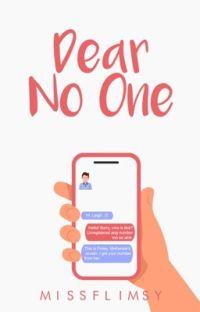 Dear No One cover