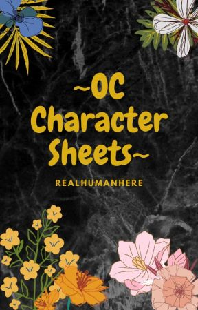 OC Character Sheets by RealHumanHere