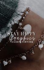 𝗦𝗧𝗔𝗬 𝗛𝗔𝗣𝗣𝗬 ─ 𝗴𝗿𝗮𝗽𝗵𝗶𝗰𝘀 by -silentlycryinq
