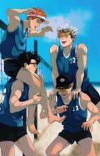 Реакция персонажей волейбола на Т/И by user94352202