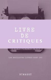 LIVRE DE CRITIQUES (OUVERT) cover