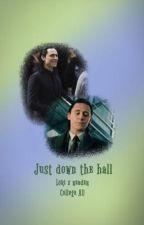Just down the hall: Loki x fem!reader College AU by 221b_blogger101