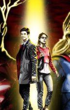 Flash and Supergirl past by Sasha4446