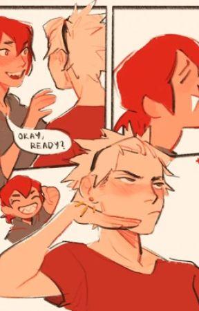 For forever//kiribaku//coffeeshop au by huneyz