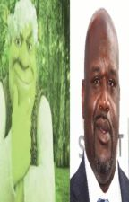 shaquille o'neal x shrek by emotionallynumb666