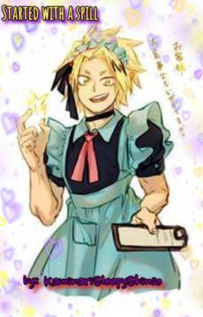 Started With A Spill - ShinKami (Cat maid/ Neko AU) by KaminariSleepyShinso