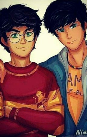 Harry Potter lendo Percy Jackson by Sra_Downey_Holland
